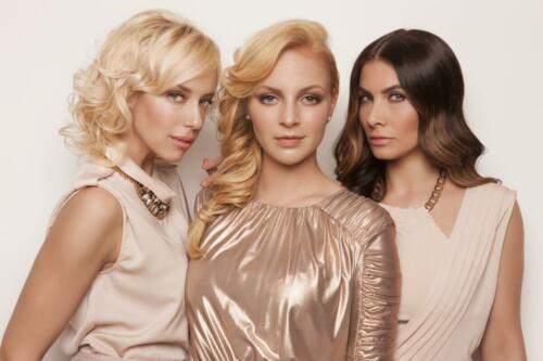 Markāta Konviükov†, Eva Decastelo, Katżina M†tlov†, B(L)OND girls 2015, Hair studio Honza Koż°nek (1)