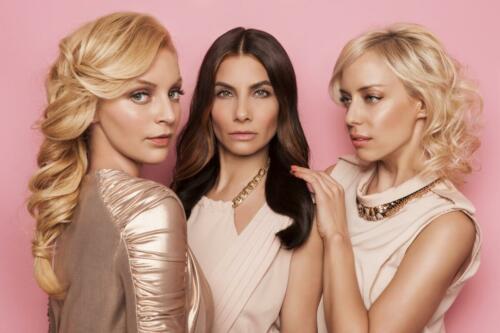 Markāta Konviükov†, Eva Decastelo, Katżina M†tlov†, B(L)OND girls 2015, Hair studio Honza Koż°nek (3) (1)